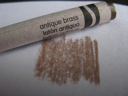 what color am i today antique brass permanent crayon